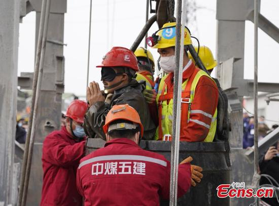 11 miners rescued from east China gold mine after 14 days